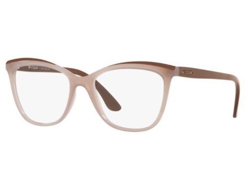 262197ea9ac10 Armação Oculos Grau Vogue Vo5188 2548 53 Nude Translucido - R  239 ...