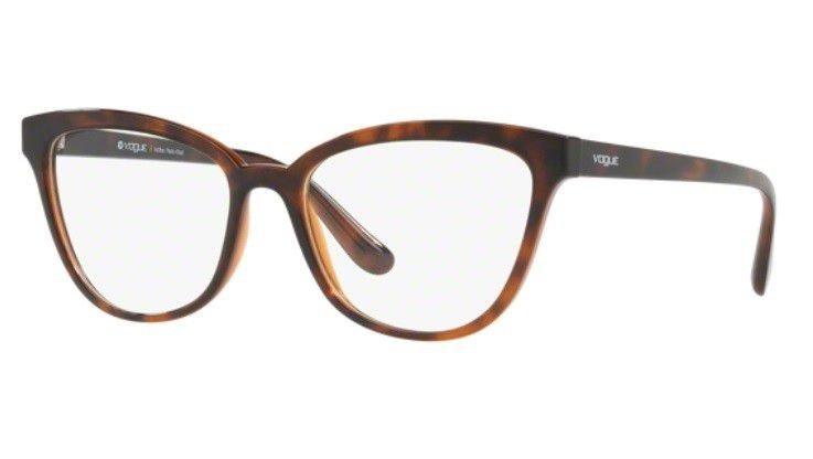 07ea52642 Armação Oculos Grau Vogue Vo5202l 2386 54mm Marrom Havana - R$ 269 ...
