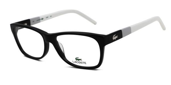 5bcd6bb17bf94 Armação Oculos Grau Lacoste L2691 001 Preto - 53x15 - R  300,00 em ...