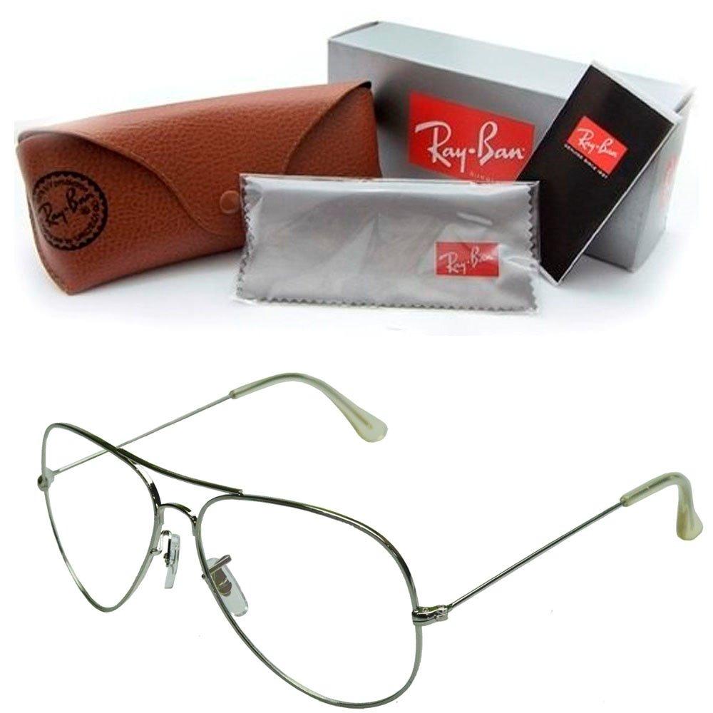 armação óculos lentes sem grau feminino retro rayban aviador. Carregando  zoom. 596418f3fe