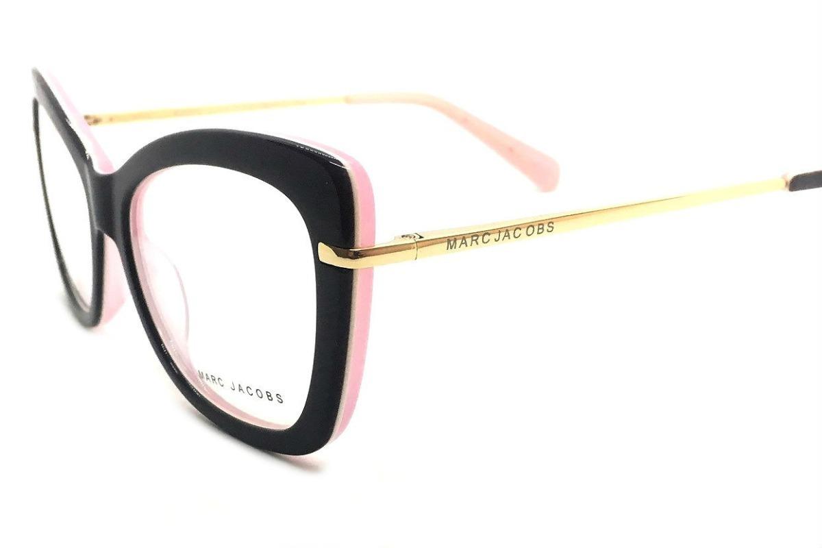 2bea0b80d6f8a Armação De Oculos Grau Feminino Marc Jacobs Mj545 Grande - R  104,89 ...