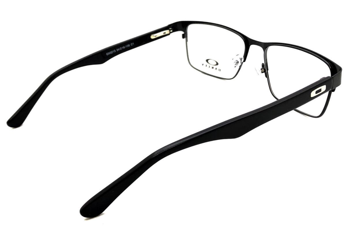 508f73decdfd3 Armação Oculos Masculino Grau Acetato Ls170 Original Import - R  124,00 em  Mercado Livre
