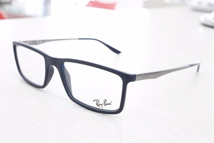d14f01fde305d Armação Óculos Masculino Ray-ban Rb 7026l 5412 Original - R  249,00 ...