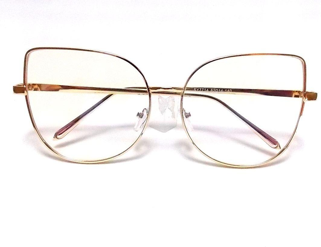 da6f9786628e6 armação óculos metal gatinho cat eye dourada retrô round. Carregando zoom.