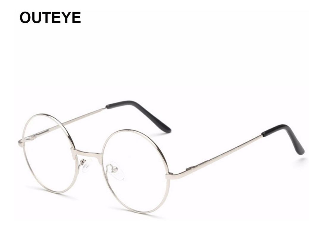 ceaaa2a24 Armação Óculos Metal Redondo Sem Grau Acessório Descanso Bh - R$ 39 ...