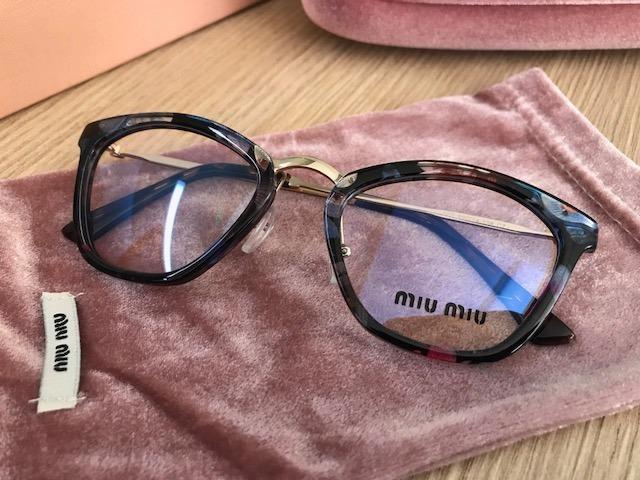 c1c1165aab3f5 Armação Para Óculos De Grau Miu Miu Havana Gatinho Cateye - R  249 ...