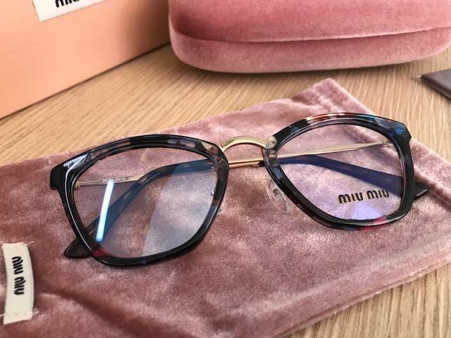 Armação Para Óculos De Grau Miu Miu Havana Gatinho Cateye - R  249 ... 3693013573