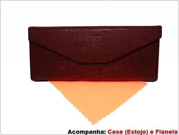 e4ef81d0a828c Armação P Óculos De Grau Mont Blanc Mb01 Frete Gratis - R  129