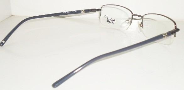3ba8a4f83565e armação óculos grau mont blanc mb89 cinza e preto meio aro · armação óculos  mont blanc
