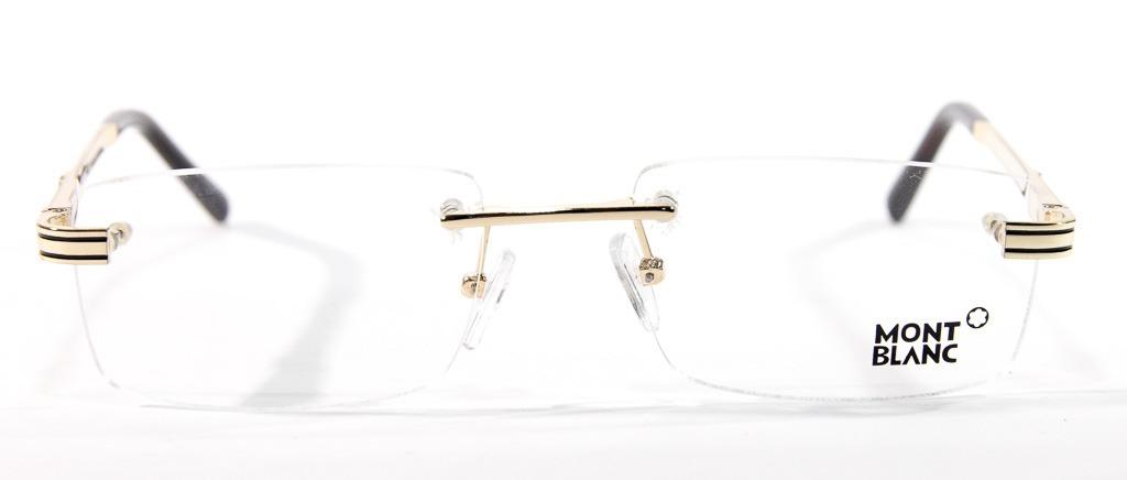 54b5fd2b35942 Armação P  Óculos De Grau Mont Blanc Original 3 Partes - R  120
