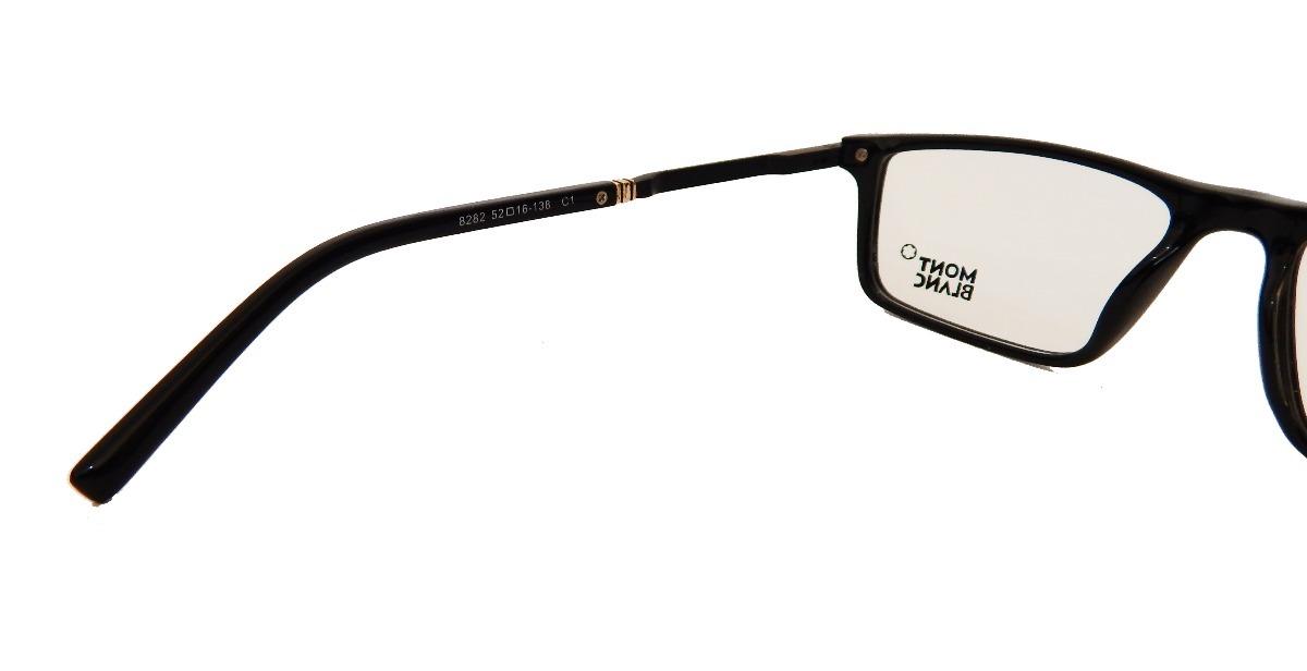 8e7ba881288d2 armação p  óculos de grau masculino mont blanc 8282 clássico. Carregando  zoom... armação óculos mont blanc. Carregando zoom.