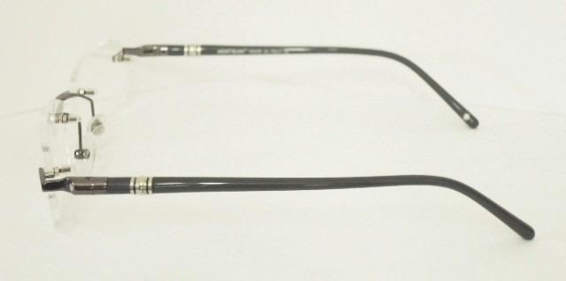 6616b360de991 armação óculos grau mont blanc mb89 grafite e cinza sem aro · armação  óculos mont blanc