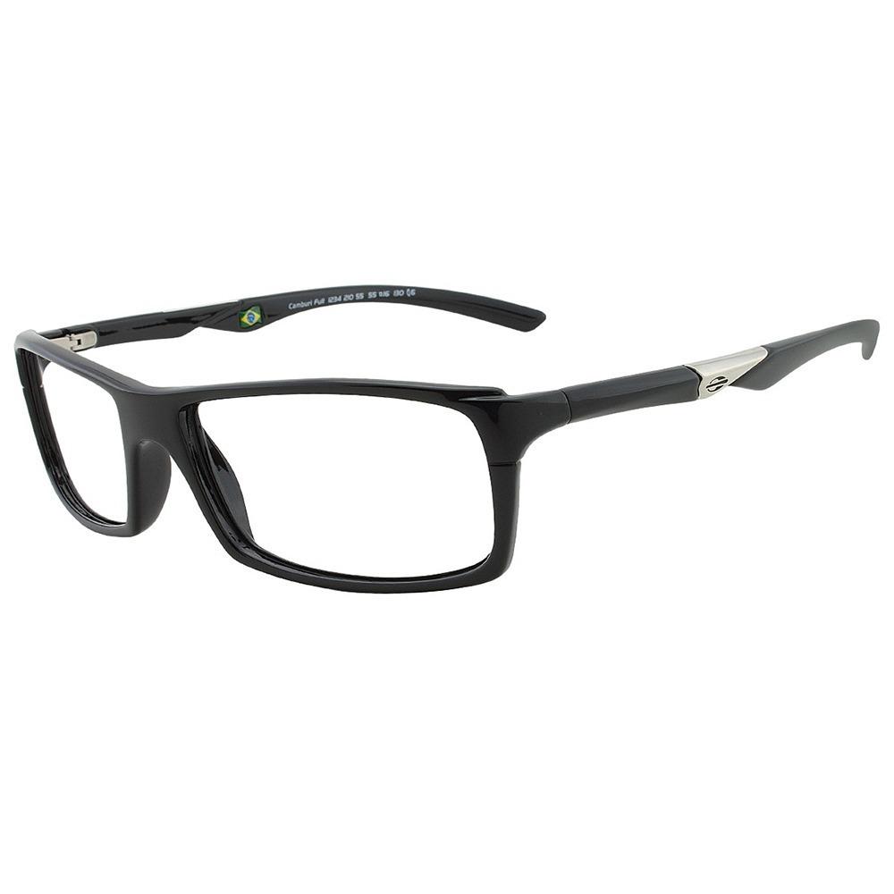 040db899ae3c6 Armação Oculos Grau Mormaii Camburi Full Preto Original - R  242