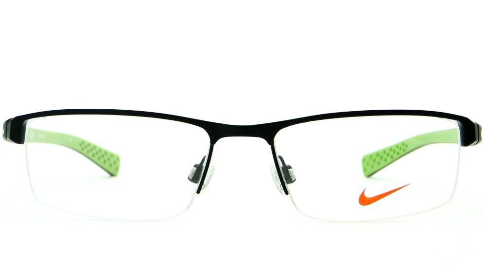 b05ba51604021 Armação Para Óculos De Grau Nike 8095 001 Masculina Original - R ...