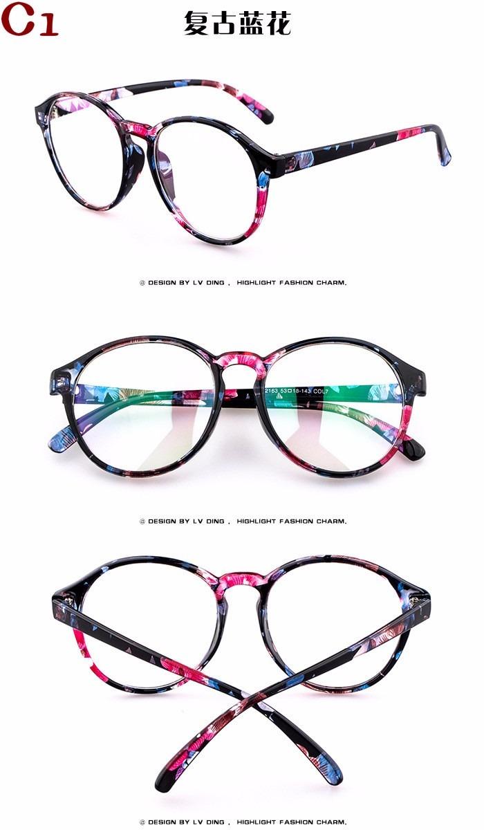 dc2c50a61 armação óculos novo redondo acessório estética descanso bu. Carregando zoom.