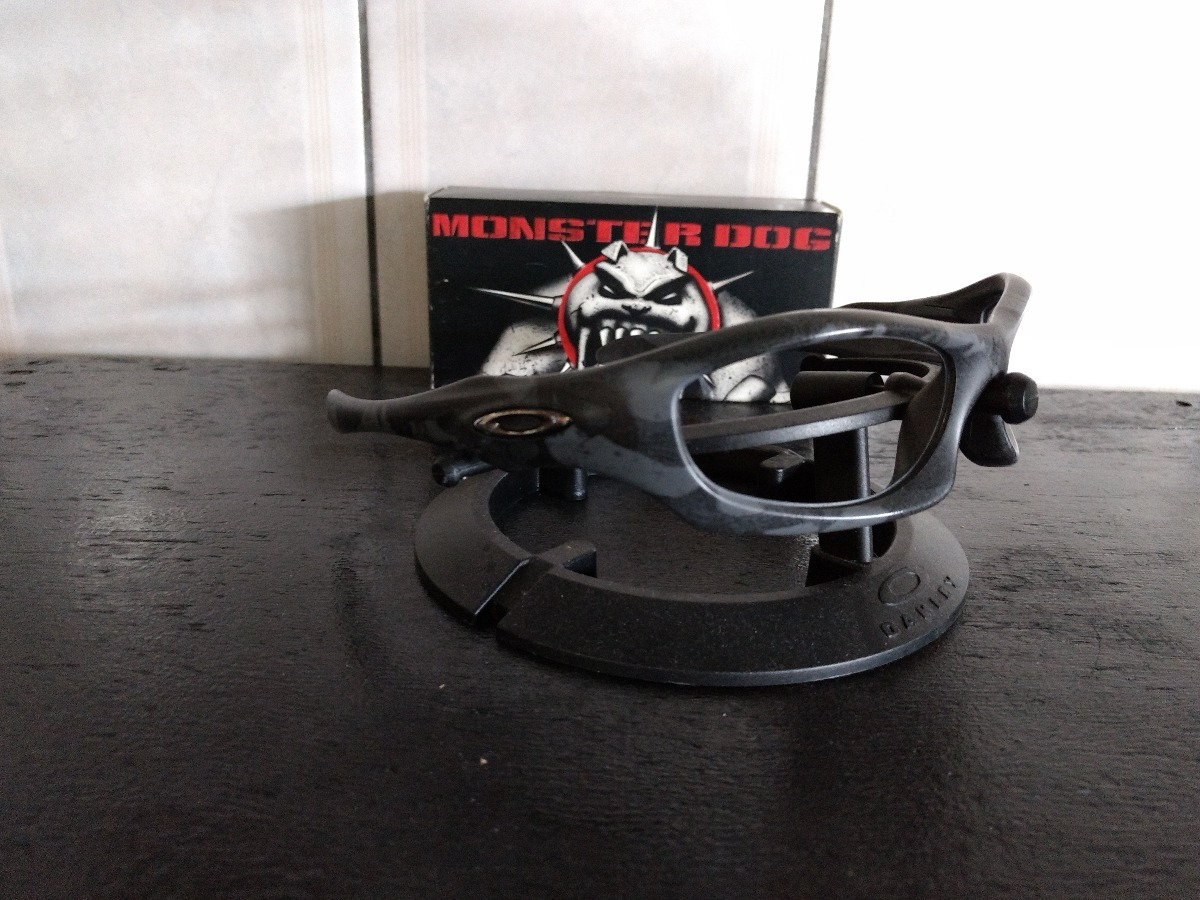 c9628ee0372cd armação óculos oakley monster dog night camo usada. Carregando zoom.