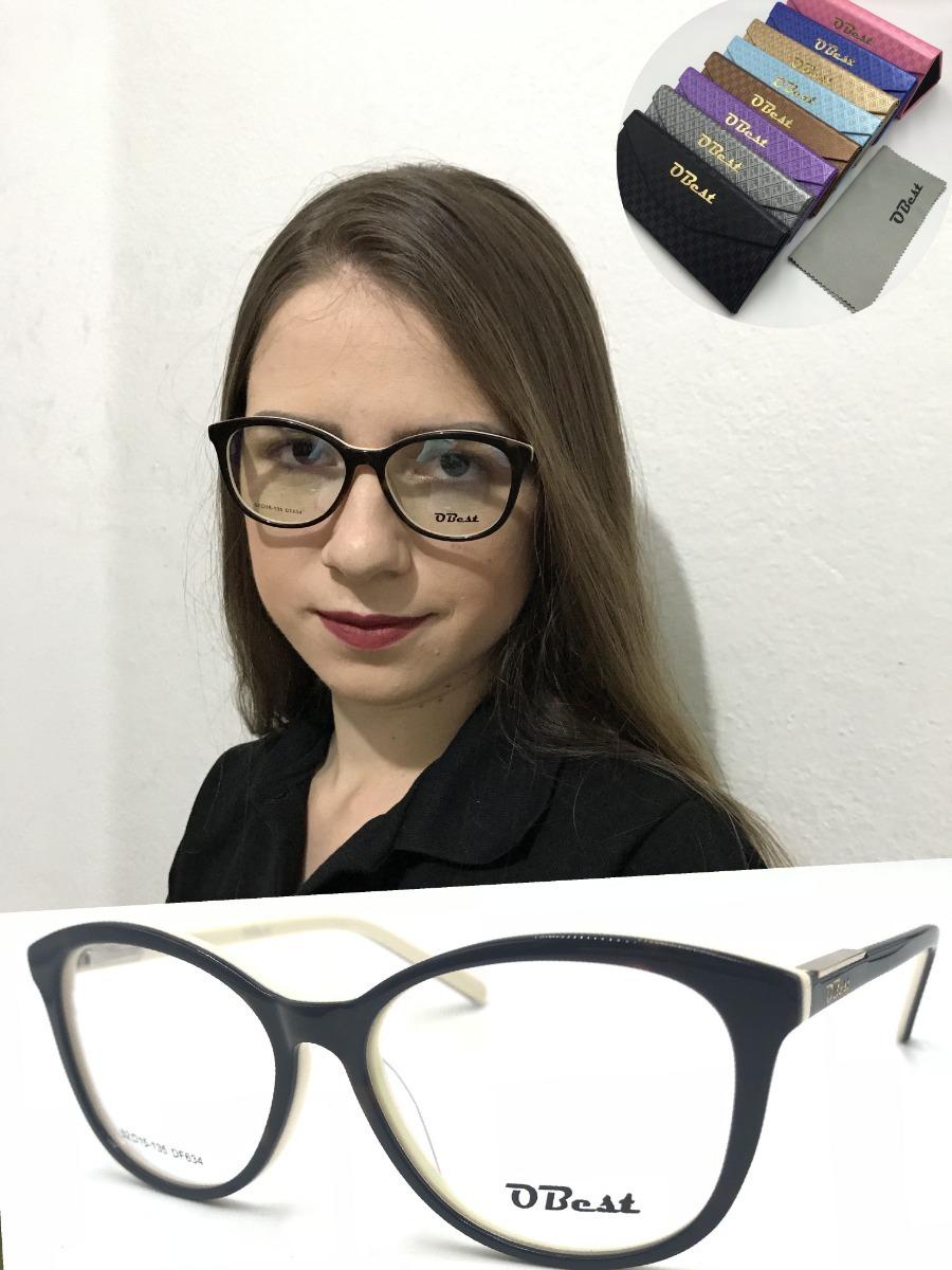 armação óculos obest 634 feminino gatinho acetato original. Carregando zoom. c16467aff9