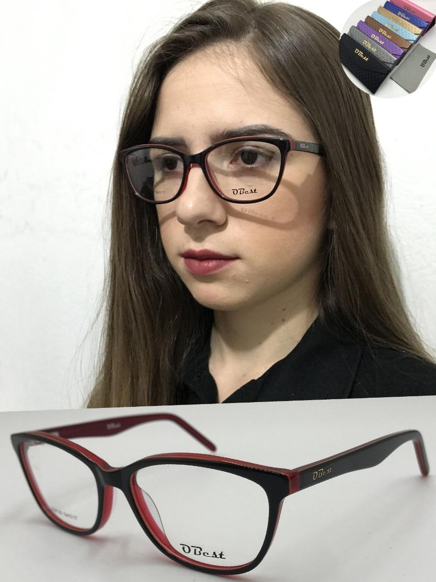 armação óculos obest 9125 feminino gatinho quadrado acetato. Carregando  zoom. c584ae38ff