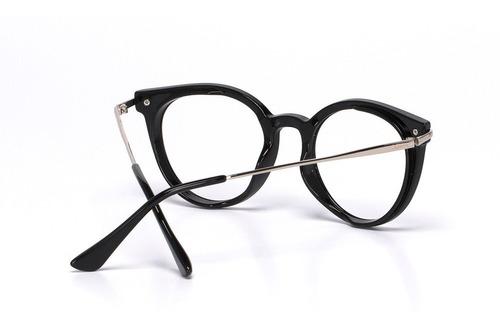 armação oculos ogrife feminino og 653-b com lente sem grau