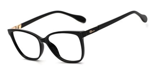 armação oculos ogrife og 1016-c feminino com lente sem grau