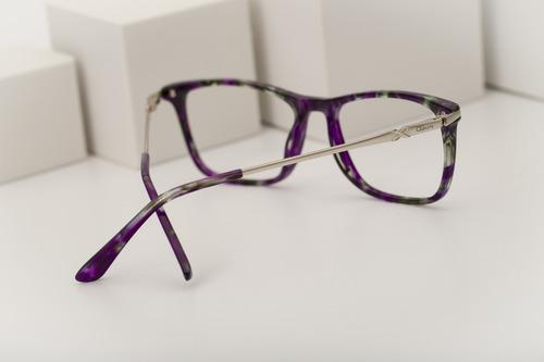 armação oculos ogrife og 1023-b feminino com lente sem grau