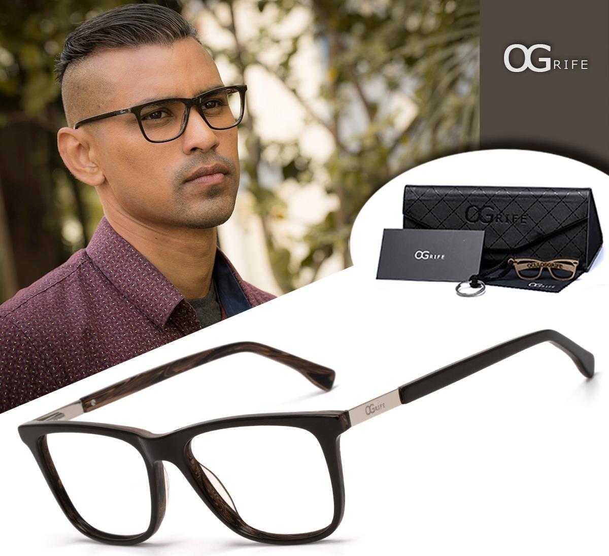 7ba0c329d armação oculos ogrife og 1117-c com lente sem grau masculino. Carregando  zoom.