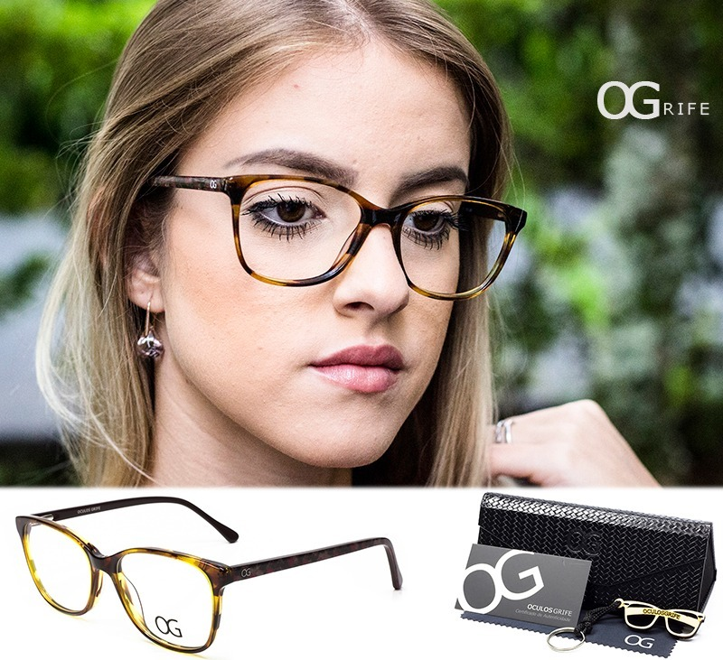 6160d444fb2a9 armação oculos ogrife og 114-f feminino acetato original. Carregando zoom.