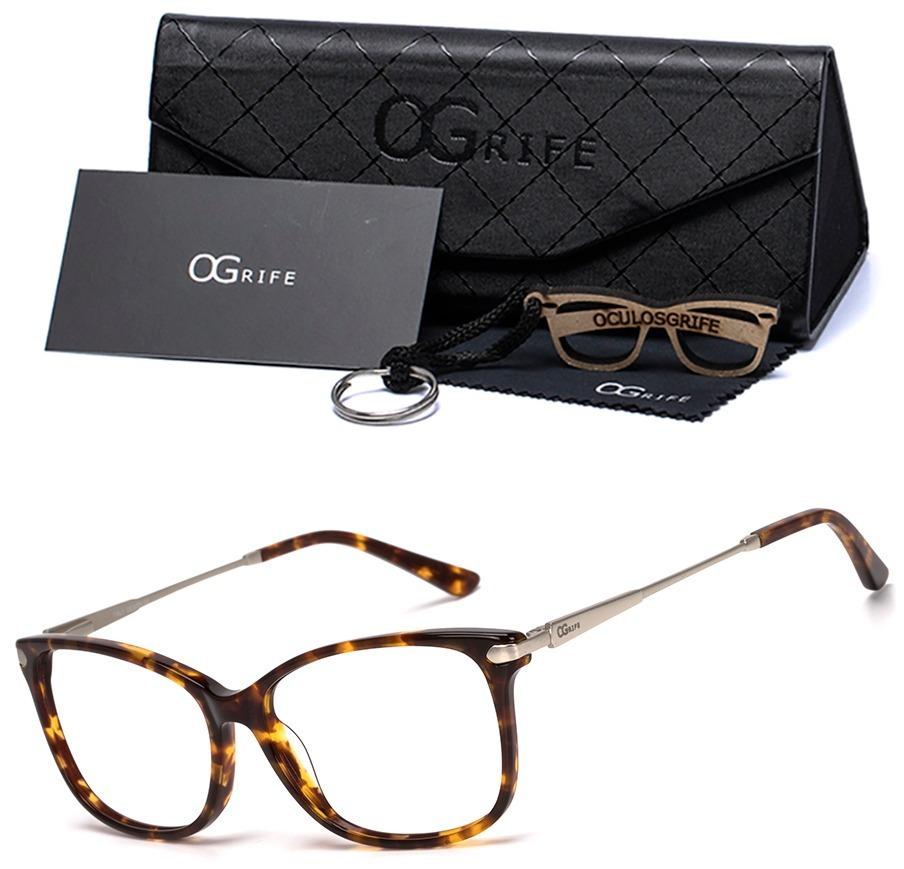 armação oculos ogrife og 1241-c feminino com lente sem grau. Carregando  zoom. 1154849f38