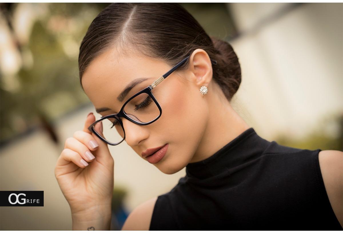 d96659804 Armação Oculos Ogrife Og 1496-c Feminino Com Lente Sem Grau - R$ 90,00 em  Mercado Livre