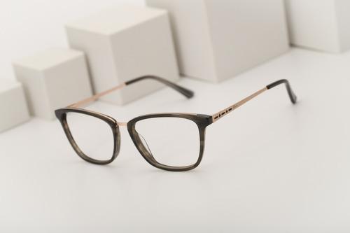 armação oculos ogrife og 1501-c feminino com lente sem grau