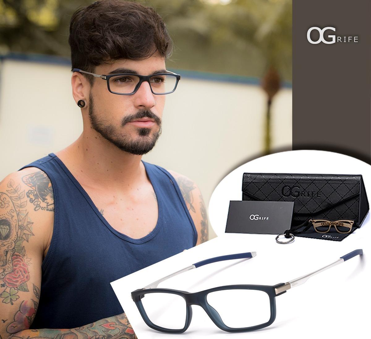 011797e30 armação oculos ogrife og 1516-c masculino com lente sem grau. Carregando  zoom.