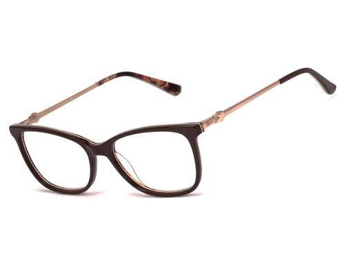 armação oculos ogrife og 1676-c feminino com lente sem grau