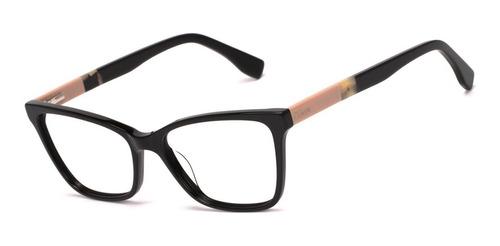 armação oculos ogrife og 1691-c feminino com lente sem grau