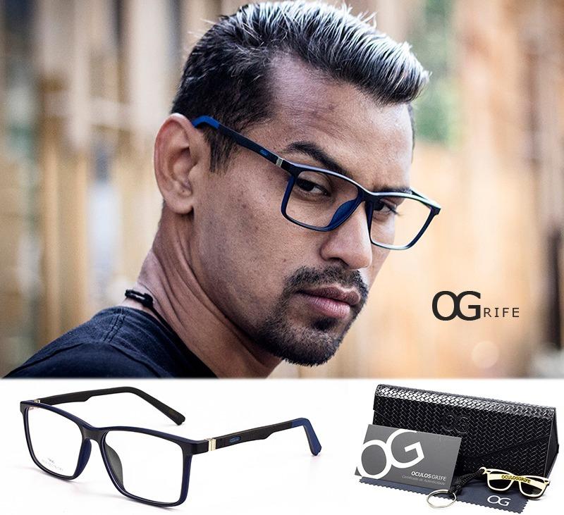 97dd7c63b armação oculos ogrife og 365-c masculino com lente sem grau. Carregando  zoom.