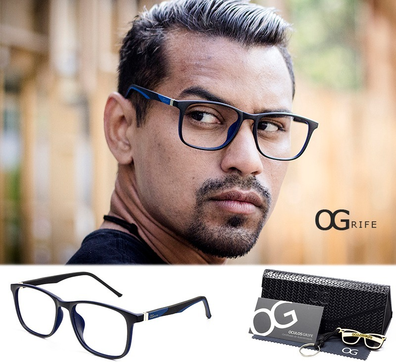 d0a84e7cf armação oculos ogrife og 370-c masculino com lente sem grau. Carregando  zoom.