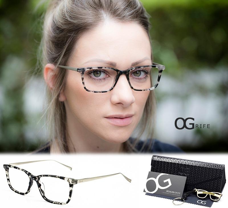 94656650d armação oculos ogrife og 397-c feminino com lente sem grau. Carregando zoom.