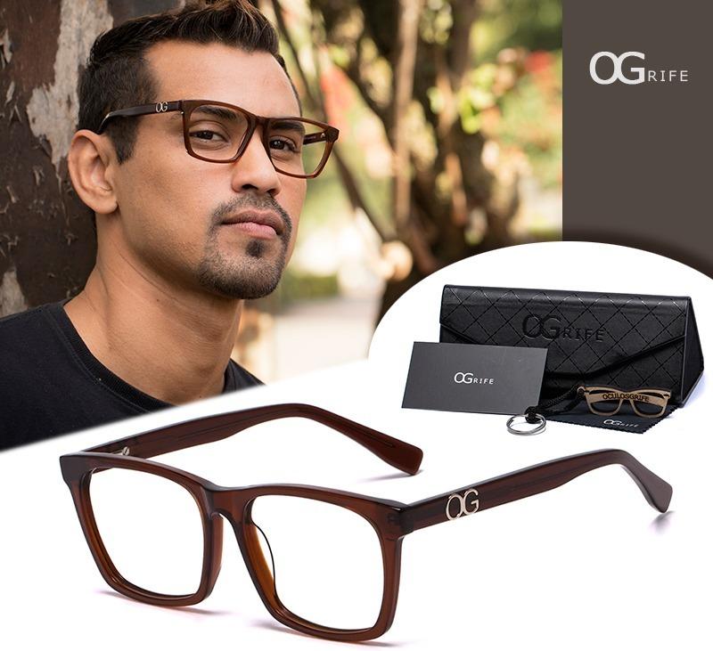 067143737 armação oculos ogrife og 504-c masculino com lente sem grau. Carregando  zoom.