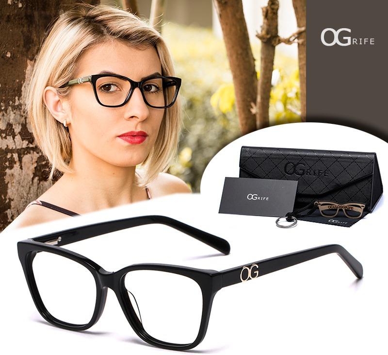 d5b6ecbd5ef74 armação oculos ogrife og 508-c feminino com lente sem grau. Carregando zoom.