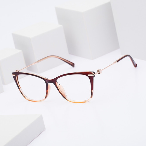 armação oculos ogrife og 537-c feminino com lente sem grau