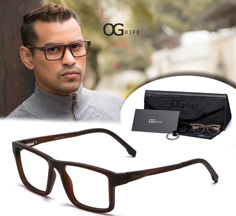 32a0b7ea0 armação oculos ogrife og 622-c masculino com lente sem grau. Carregando  zoom.