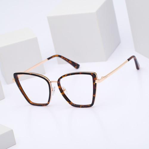 armação oculos ogrife og 723-c feminino com lente sem grau