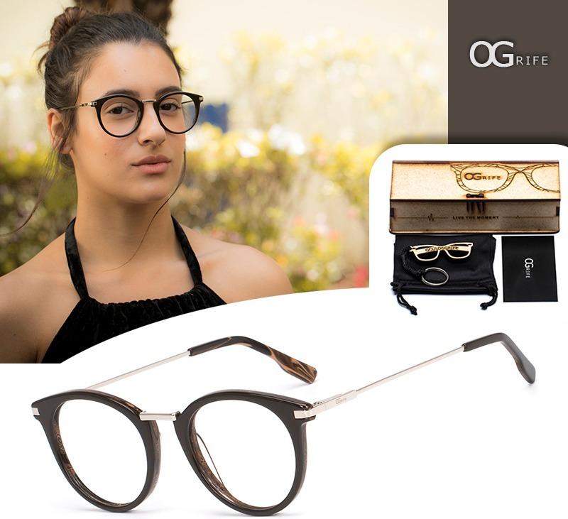 armação oculos ogrife og 757-m feminino com lente sem grau. Carregando zoom. 5c86d70f2c