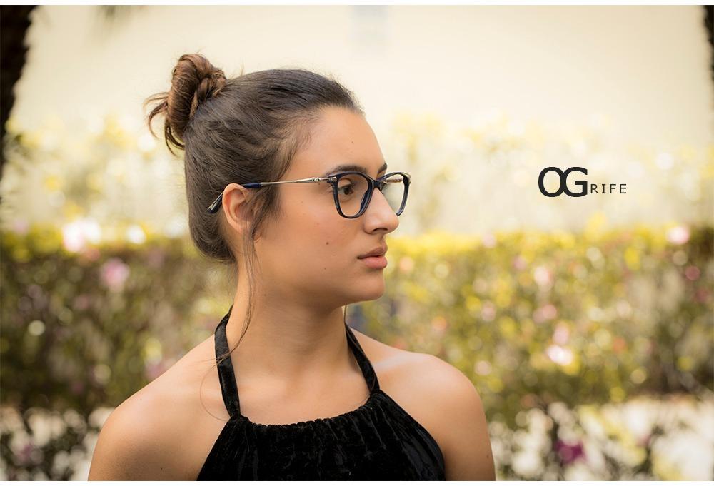 1d989c3c51714 armação oculos ogrife og 767-c feminino com lente sem grau. Carregando zoom.