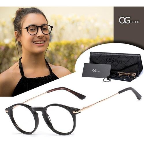 armação oculos ogrife og 771-c feminino com lente sem grau