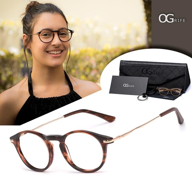 ce70070a25f2c armação oculos ogrife og 773-c feminino com lente sem grau. Carregando zoom.