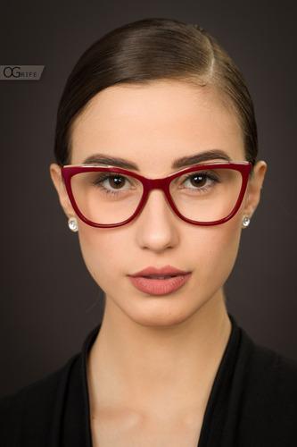 armação oculos ogrife og 984-c feminino com lente sem grau