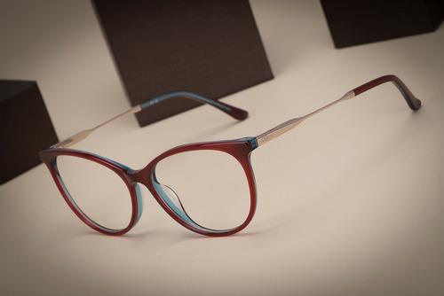 armação oculos ogrife og 991-c feminino com lente sem grau