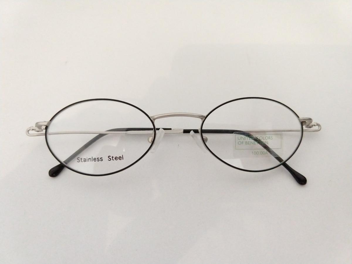 armação oculos oval preto pequeno aço inox prata super leve. Carregando  zoom. 6ea9c1071d