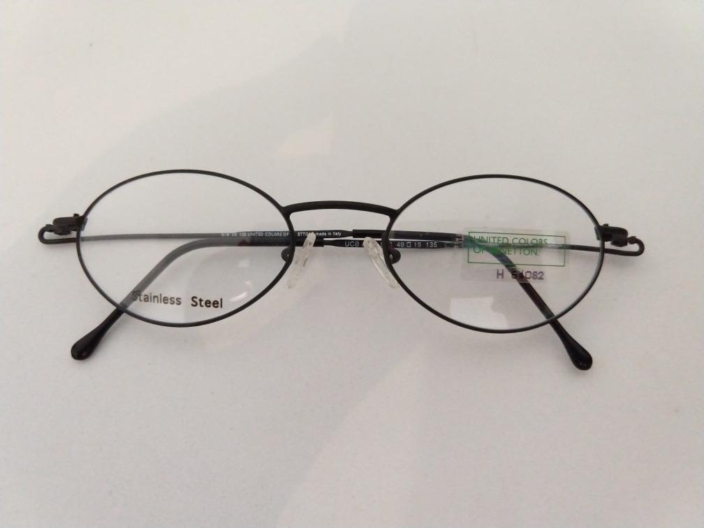 54dab34ab48de Armação Óculos Oval Preto Pequeno Aço Inox Tipo Casa Grande - R  74 ...