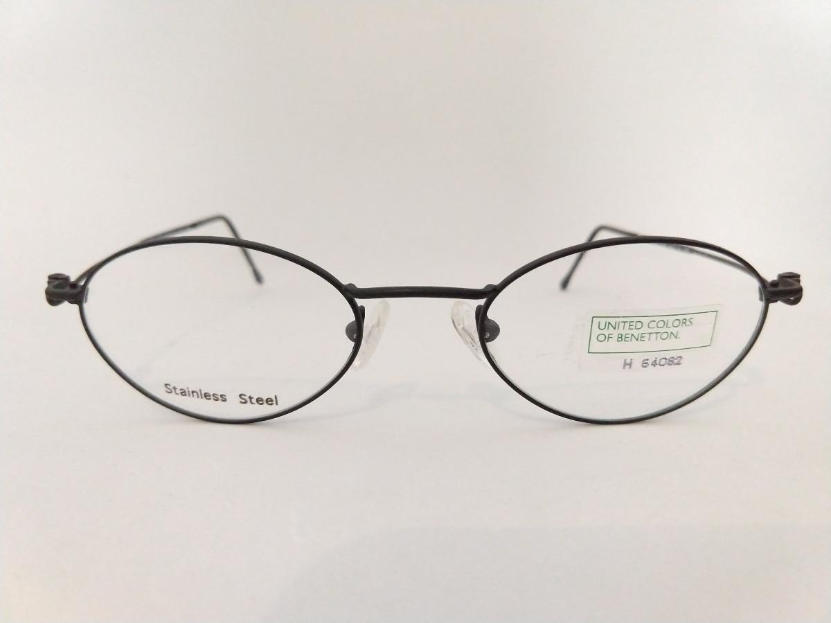 armação oculos oval preto pequeno inox retro super leve. Carregando zoom. 36cdfb90da